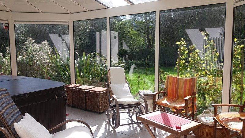 The veranda and SPA