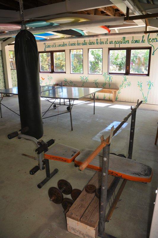 área de ping pong