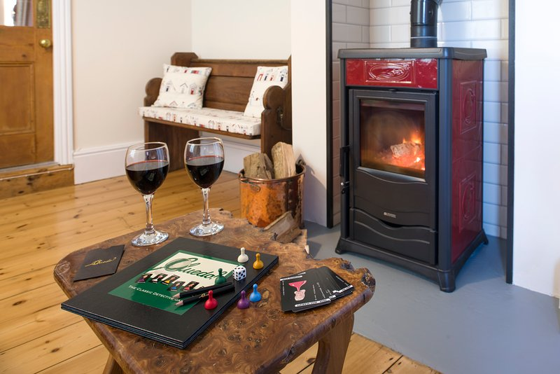 The Snug with Italian wood burning stove