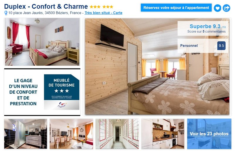 Joli Duplex de 120 m² - Confort et Charme, vacation rental in Beziers