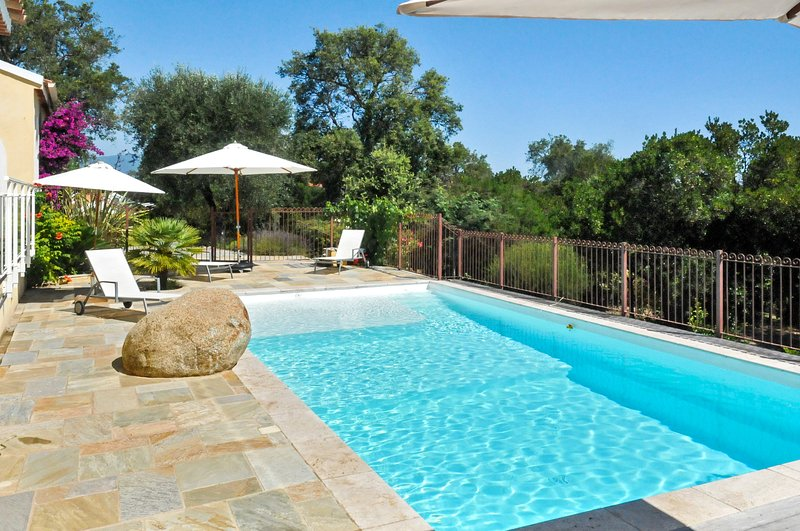 Big villa with swimming-pool & Wifi, holiday rental in Bravone