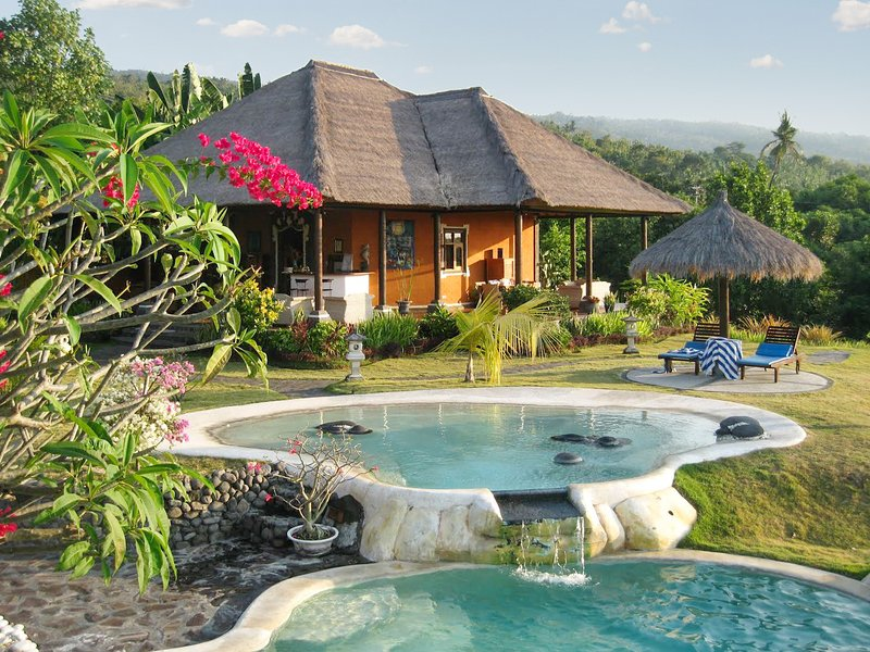 Big villa with swimming-pool & Wifi, vacation rental in Munduk