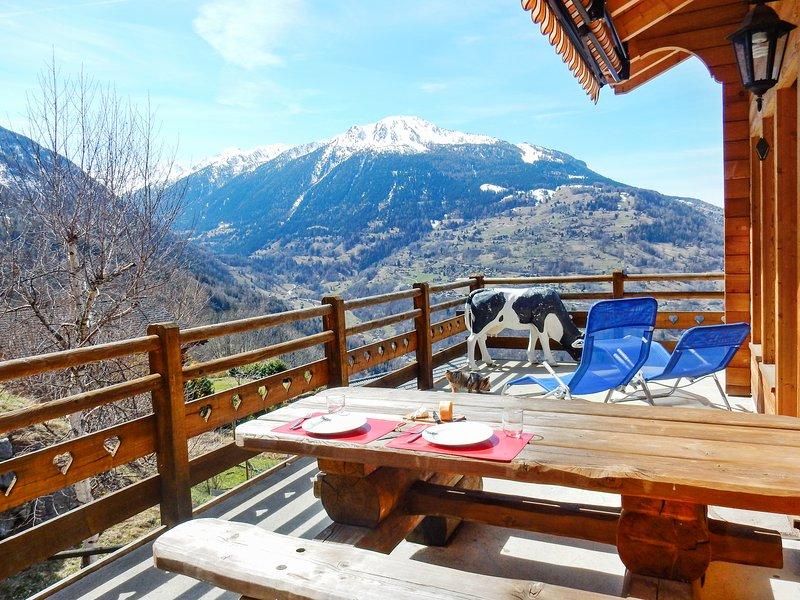 Chalet - 700 m from the slopes, location de vacances à Veysonnaz