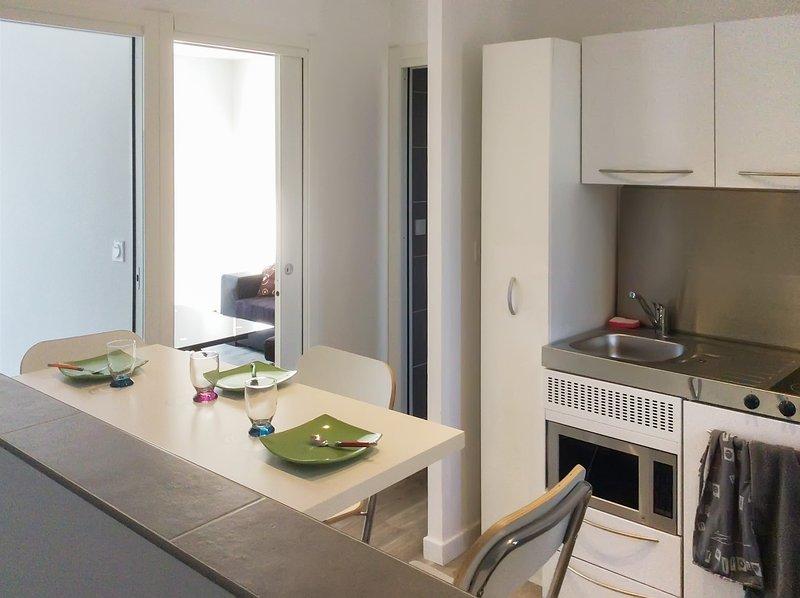 Nice apt with terrace & Wifi, holiday rental in Saint-Quentin-Fallavier