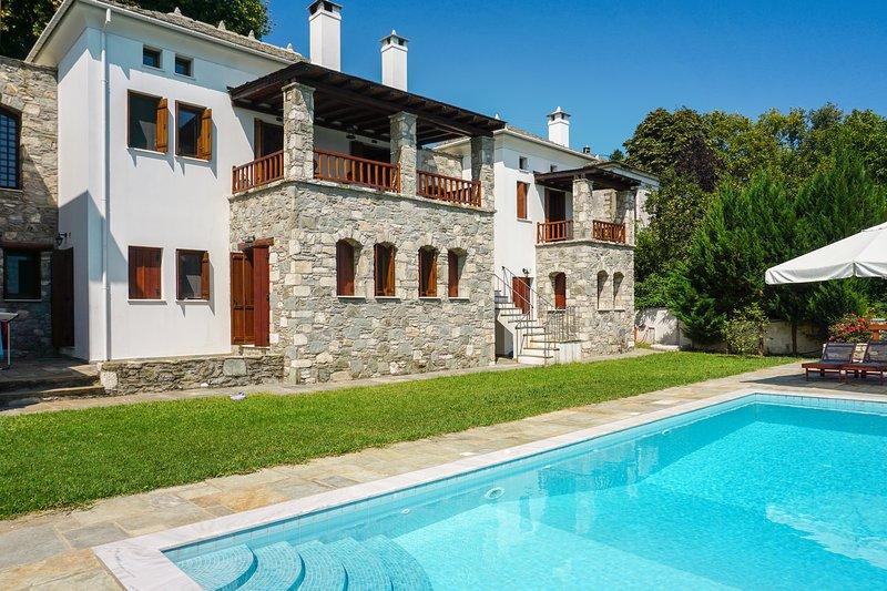 Amazing villa with swimming-pool, holiday rental in Kalamaki