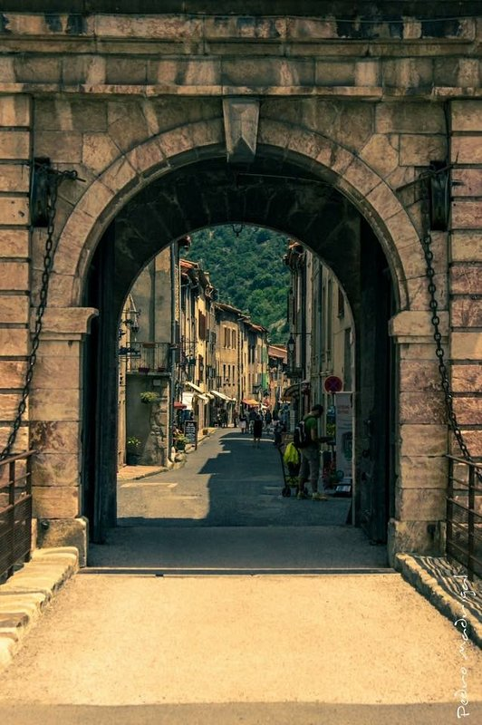 The beautiful fortified town of Villefranche de Conflent.