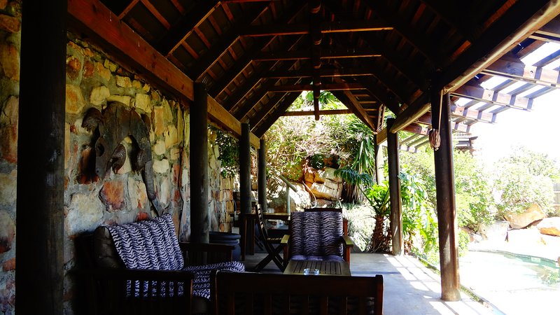 Shaded cabana for when it is too hot to lie in the sun