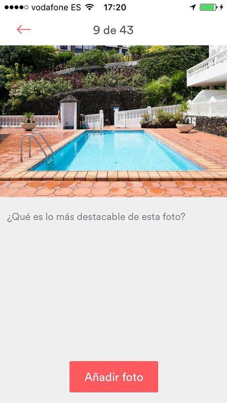 Pool mit eigenem Eingang von der Wohnung entfernt.