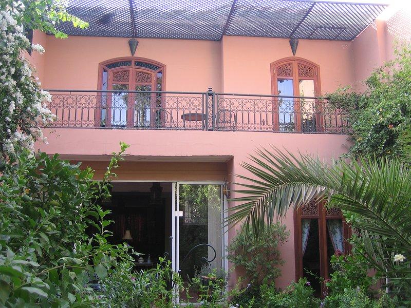 Beautiful private villa garden in Marrakech