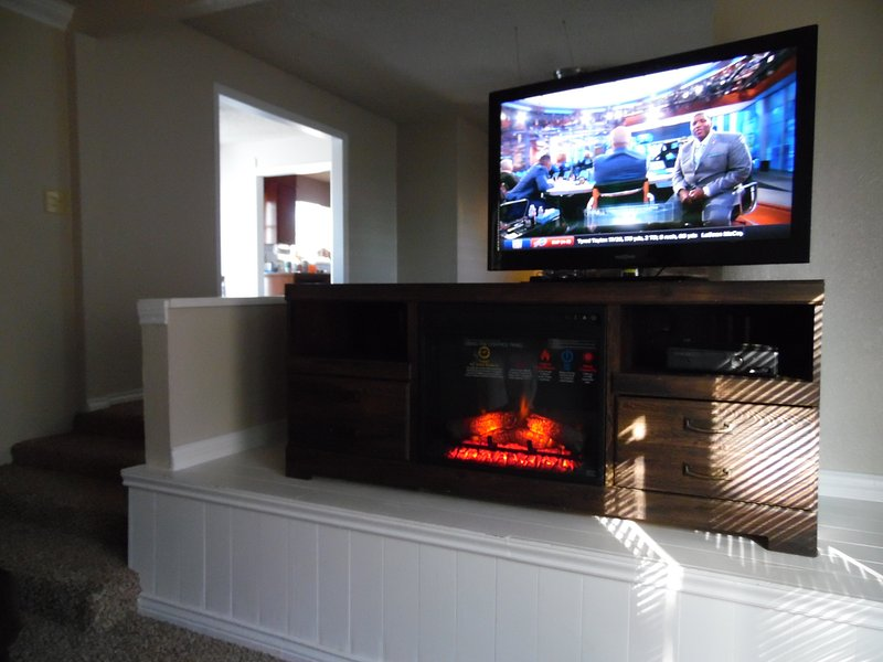 fireplace can be operated with or without heat