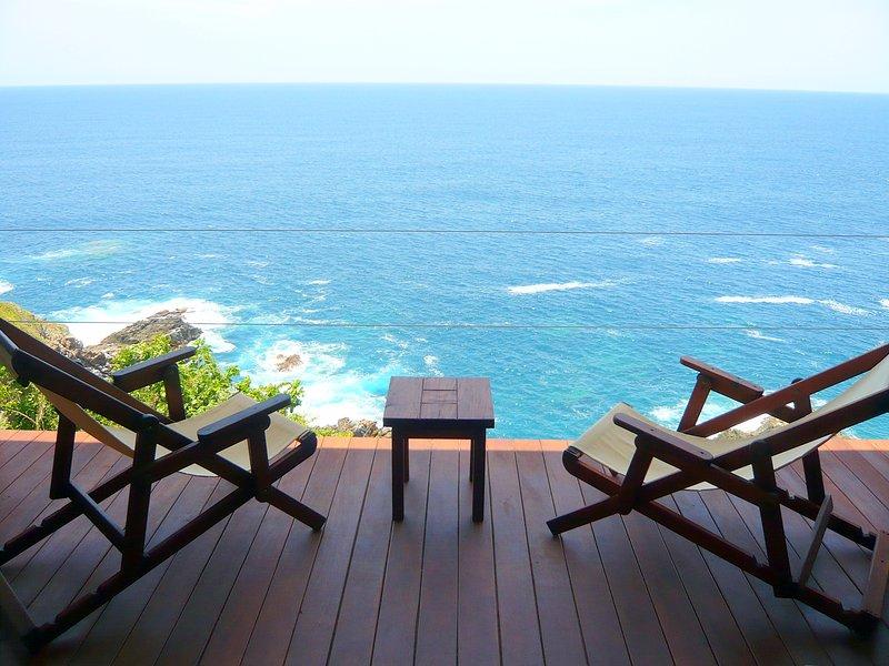 Terrasse vue sur l'océan au sud