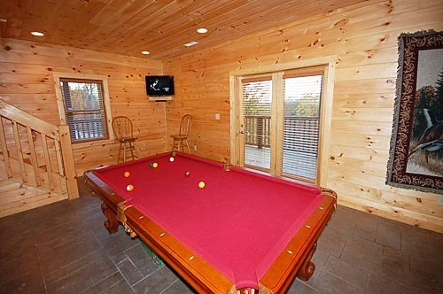 Play some pool while watching your favorite TV Show