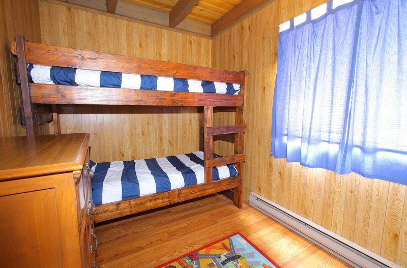 main floor bedroom with twin bunk beds