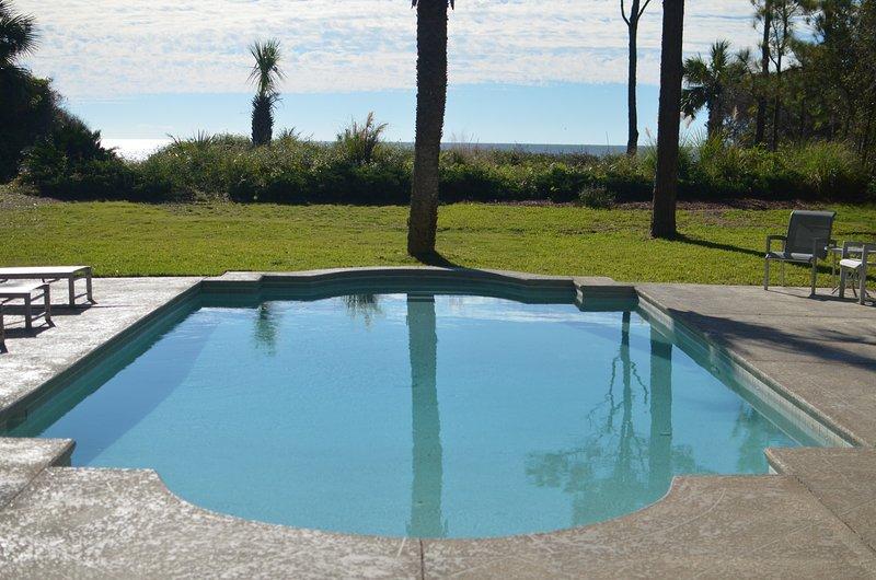 Pool view towards ocean
