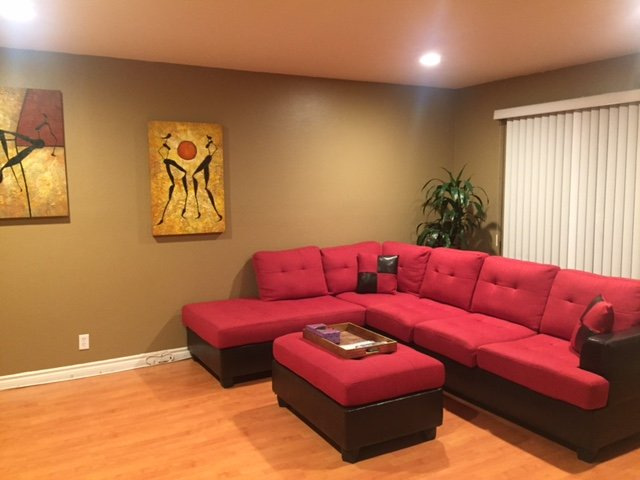 Spacious Living Area with sectional sofa