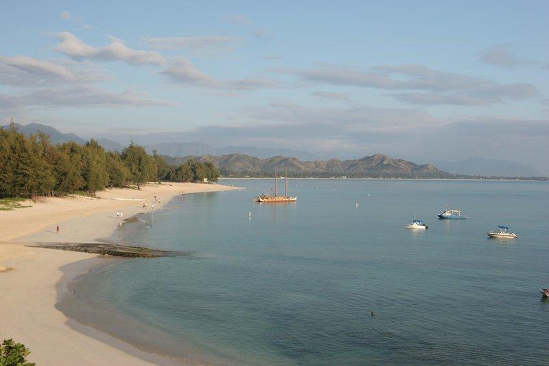 Kailua Beach is 15 minutes drive