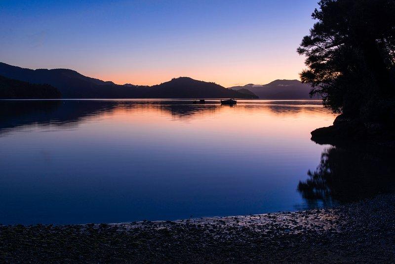 Sunset Marlborough Sounds