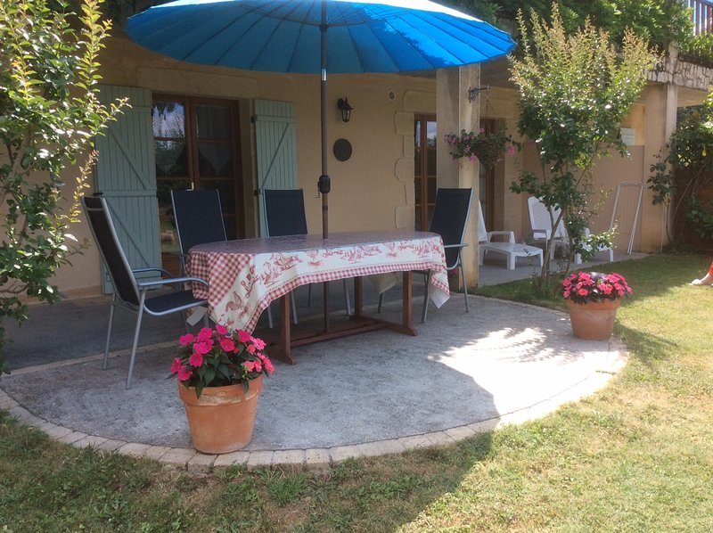 Gite terrace.