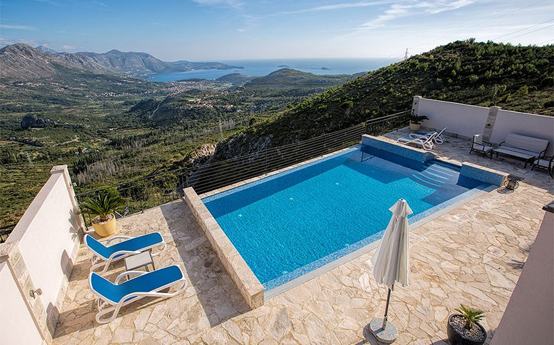 Luxury Villa Goja with incredible view to the Dubrovnik Riviera