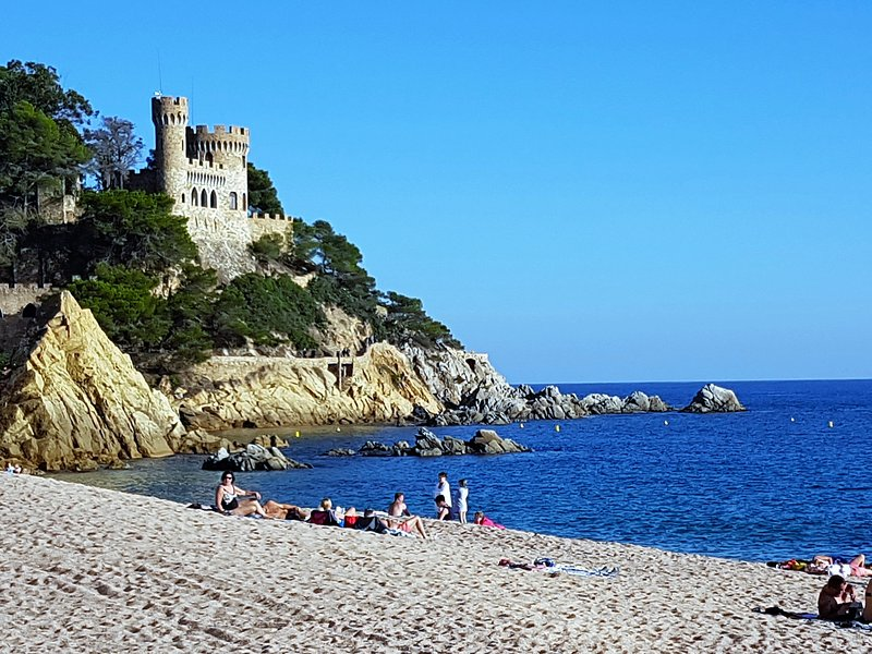 Beach and Castle of Lloret de Mar