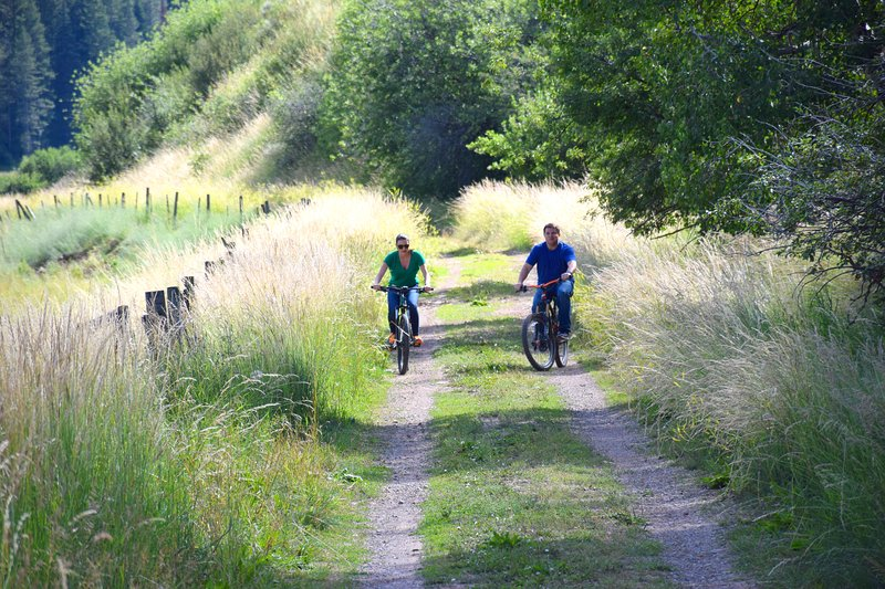 Bike riding and hiking trails are available right out the front door.