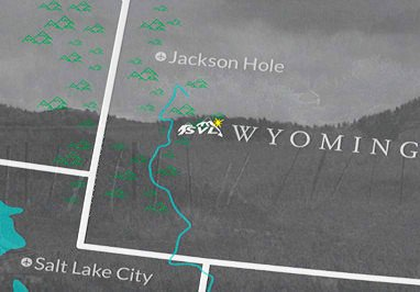 We are located one hour south of Jackson Hole, WY.