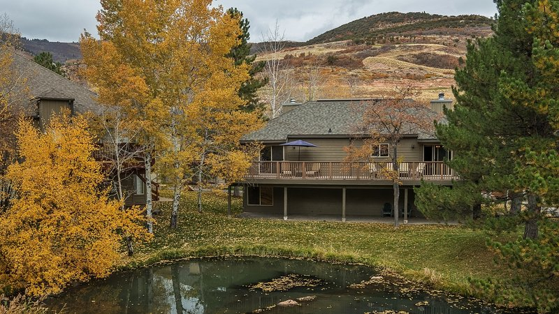 This property is located right on a duck pond at the base of Canyons Village.