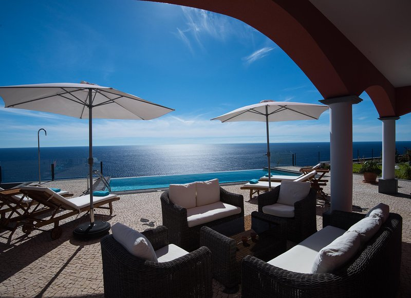 Luxury Ocean Front Villa in Calheta, holiday rental in Madeira
