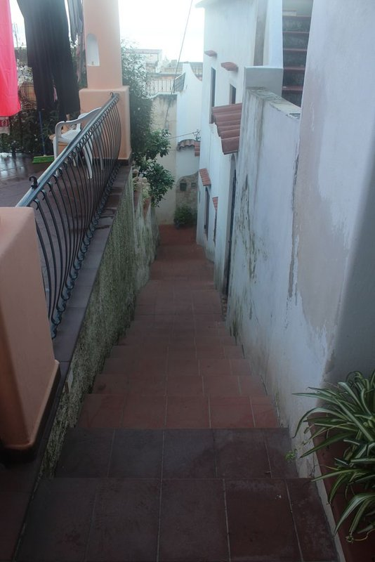 the alley with steps