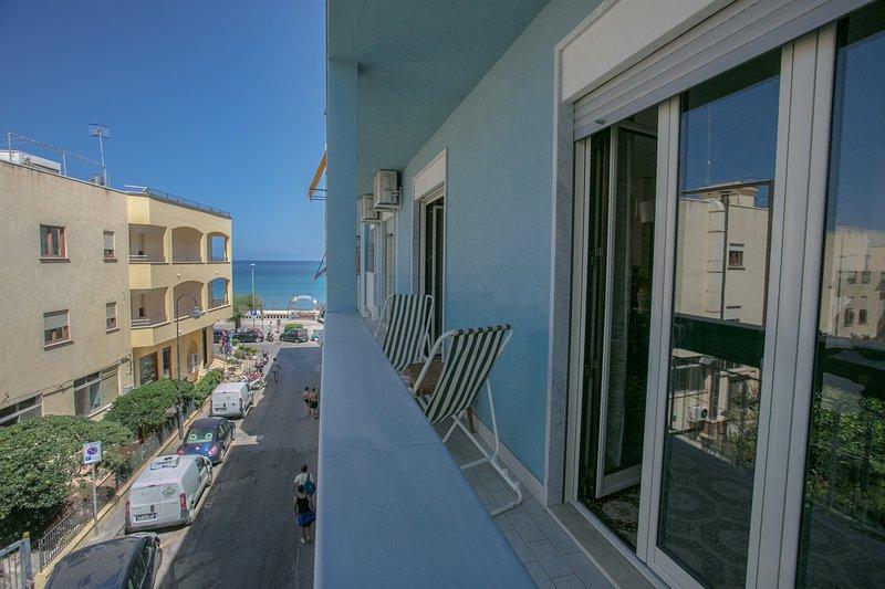 Balkon kant van de Via Archimede
