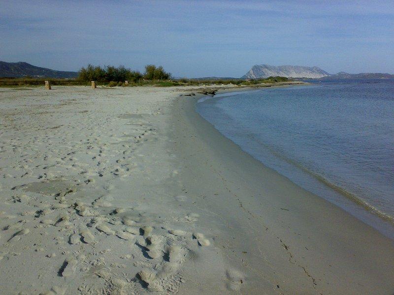spiaggia fronte villa