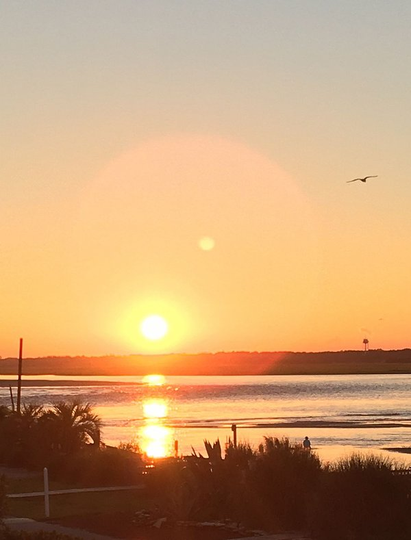 Inlet view sunset