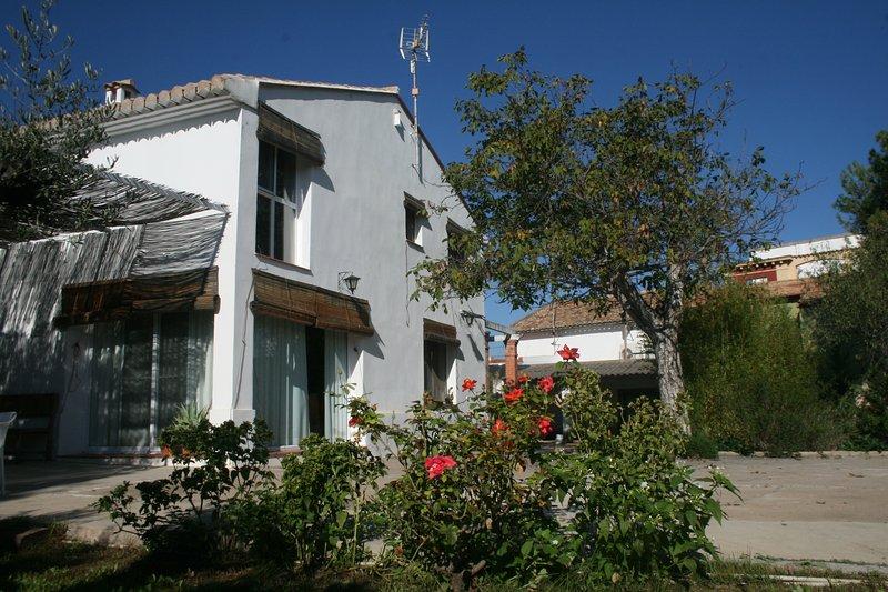 Rosal e noz frente da casa