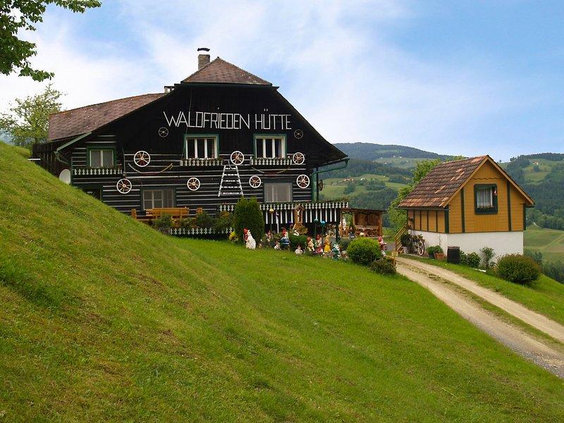 Waldfriedenhütte, location de vacances à Hirschegg Rein