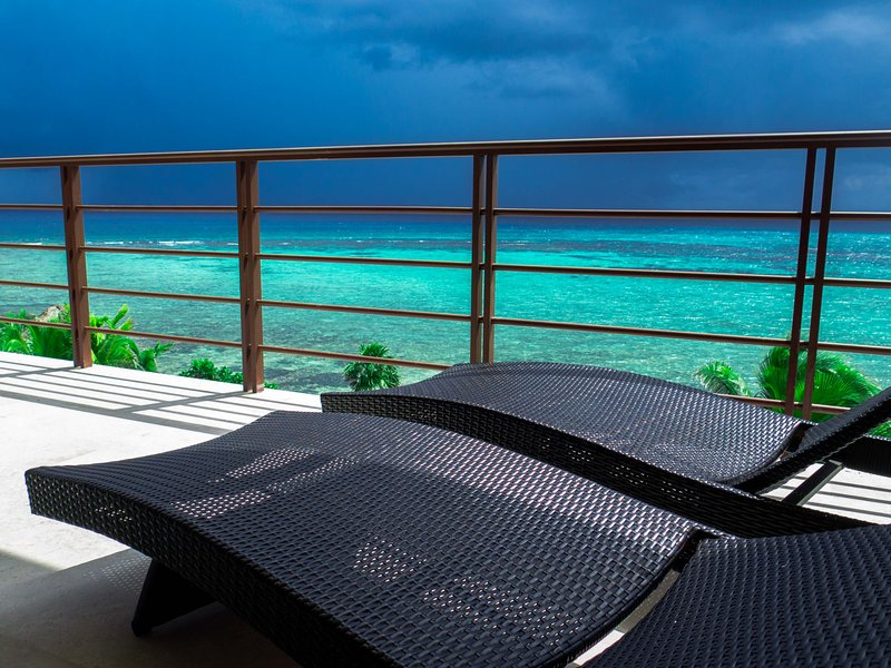 Main Terrace view with a thundershower on the horizon