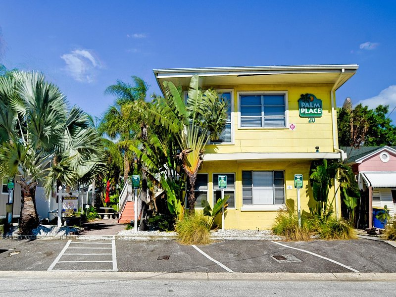 Palm Place located on quiet north Clearwater Beach.
