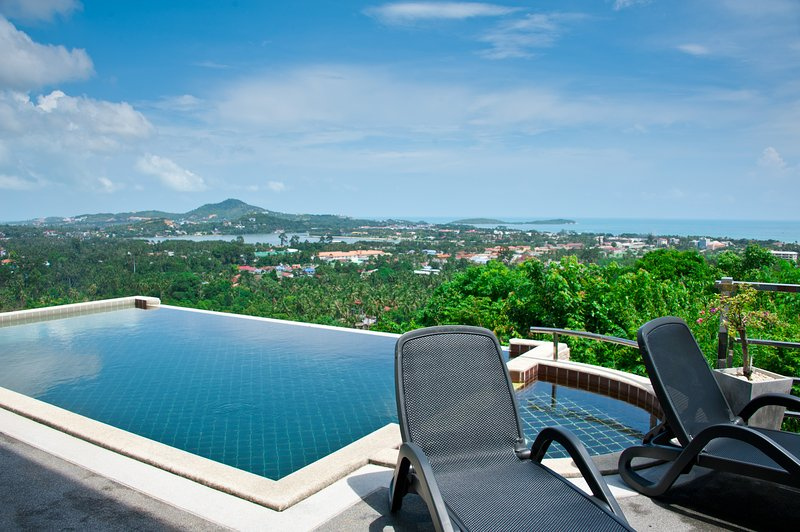 Infinity pool with breathtaking view