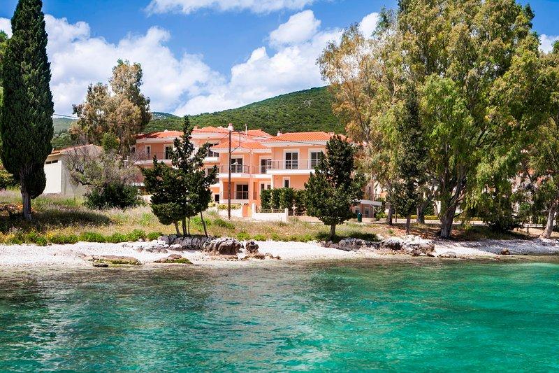 Waterfront complex in Karavomilos village