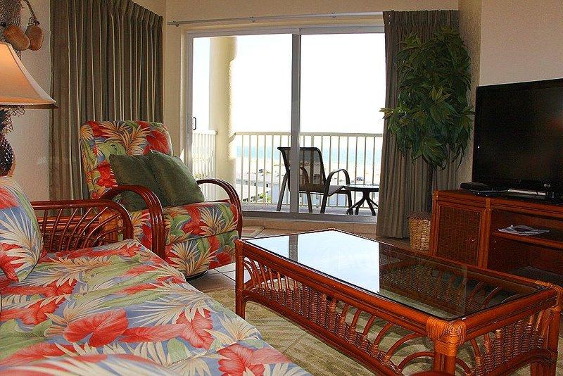 Canapé, inclinable, balcon WidescreenTV Vous cherchez De Top Floor Gulf View & Beaches.
