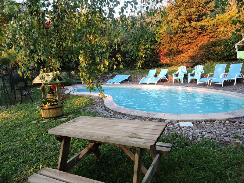 Jardin et piscine chauffée à partir du 15 juin.