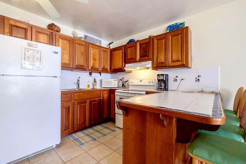 Fullt utrustat kök med disk sittplatser