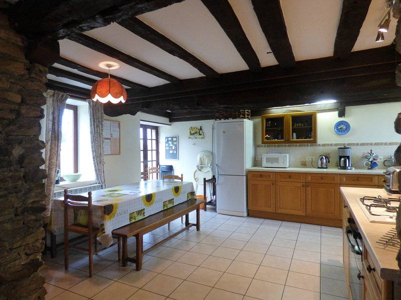 The dining area, next to the kitchen