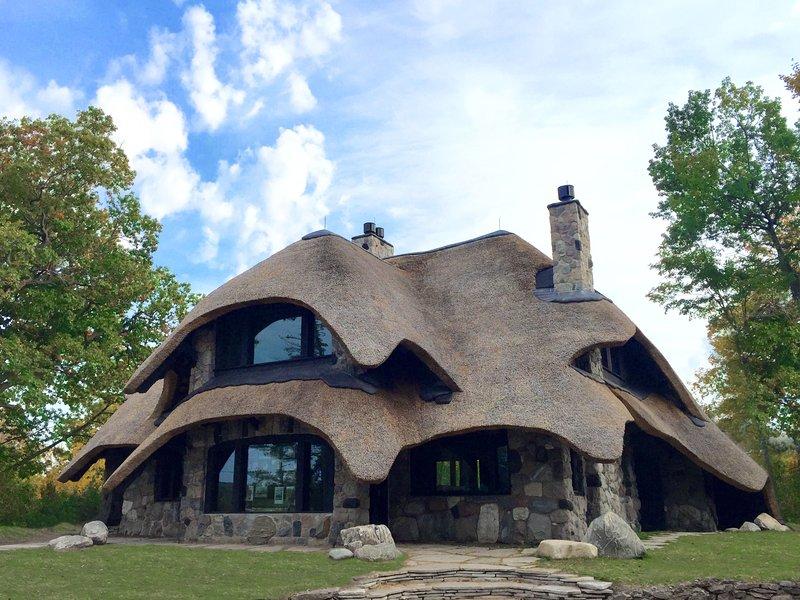 La casa de la paja en verano