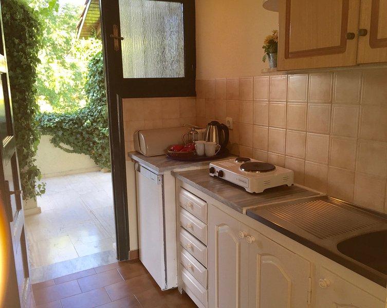 MAYFLOWER  POOL VIEW STUDIO - IN A SMALL PRETTY COMPLEX SET AROUND A LARGE POOL, location de vacances à Agios Ioannis Peristeron
