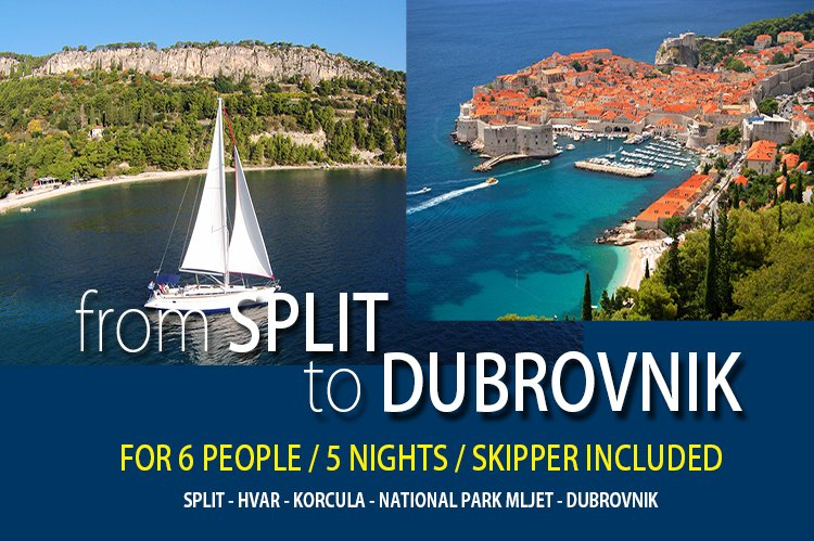 Sailing from SPLIT to DUBROVNIK, holiday rental in Split