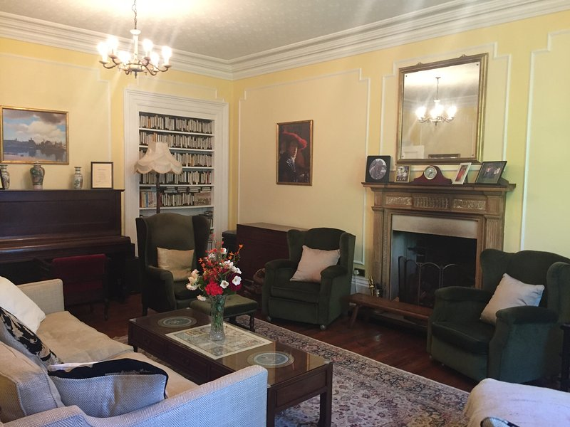 Drawing room and working fireplace - logs provided!