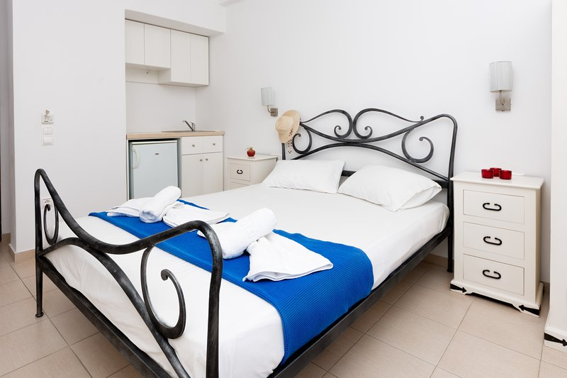 Superior double room in naxos town, holiday rental in Koronos