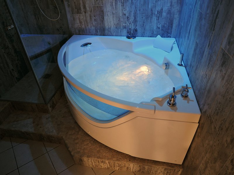 spa bath and light therapy