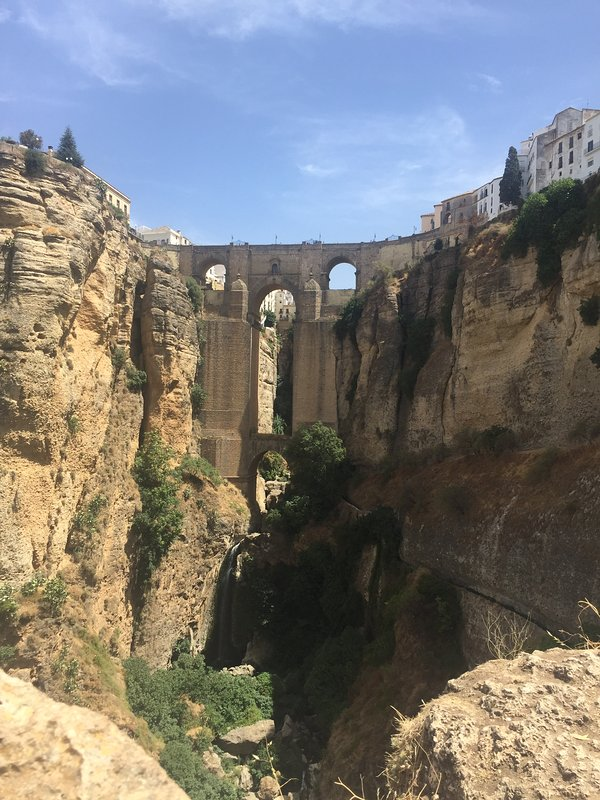 Ronda's famous bridge is a marvel of architectural engineering.