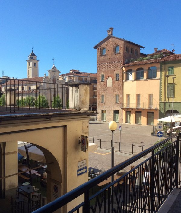 View from the balcony of Piazza Pertinax
